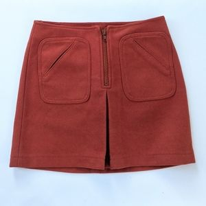 GAP Retro 70s Orange Wool Mini Skirt size 2
